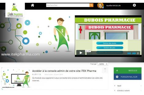 Certains organismes, tel Itek Pharma, proposent des formations en Web marketing